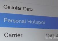 Cara setting Ipad dan Iphone (iOS 8) menjadi Hotspot Wifi