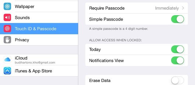 Menghilangkan Notifikasi pada Lock Screen iPad