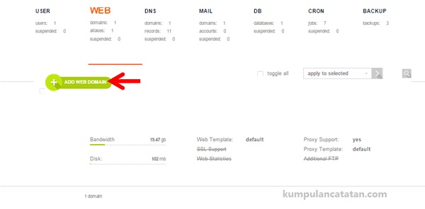 Add Web Domain