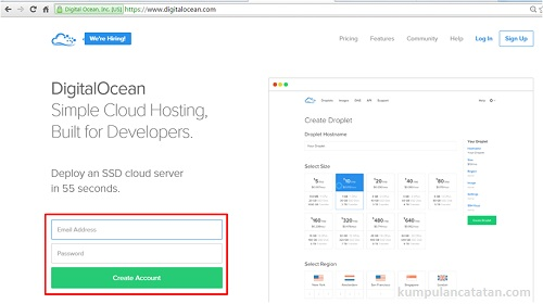 Cara Menyewa Cloud Server di DigitalOcean