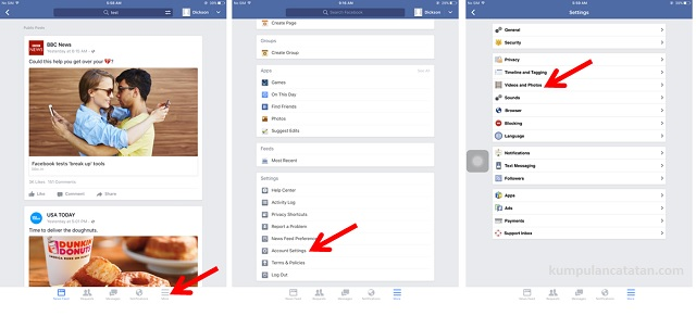 Cara Menghentikan Auto Play Facebook pada iPad