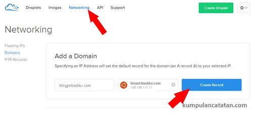 Menghubungkan Domain dengan DigitalOcean