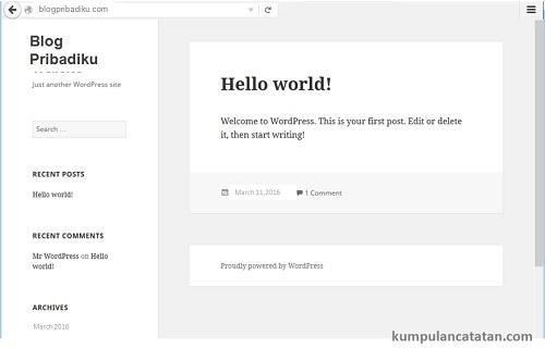 Sukses - Cara Install WordPress di VPS Digitalocean dengan Serverpilot