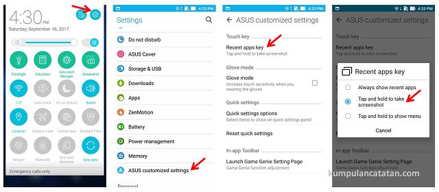 Cara Mengambil Screenshot Zenfone 3 dengan Recent Apps