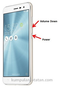 Cara Mengambil Screenshot pada ASUS Zenfone 3 dengan tombol fisik hardware