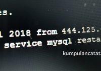 Cara Restart MySQL di ubuntu Linux