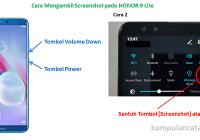 Cara Mengambil Screenshot pada HONOR 9 Lite