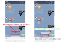 Cara Menghapus Pesan di LINE yang salah kirim (unsent message)