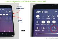 cara mengambil screenshot pada Meizu M6