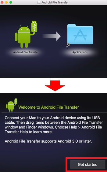 Install Android File Transfer