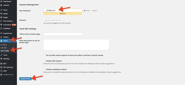 Cara Menggantikan Password Admin WordPress