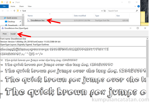 Cara Menginstall Font di WIndows 10