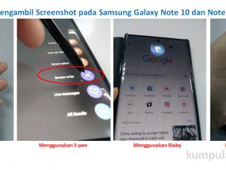 Cara Mengambil Screenshot pada Samsung Galaxy Note 10 dan Note 10 Plus