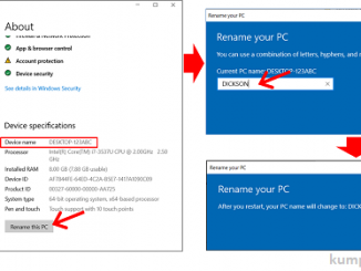 Cara Mengganti nama komputer windows 10 - menu system-about