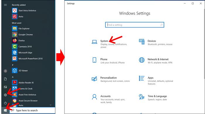 masuk menu system untuk ganti computer name