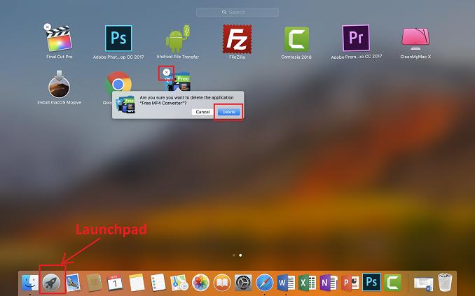Cara Uninstall Aplikasi di Macbook melalui Lauchpad
