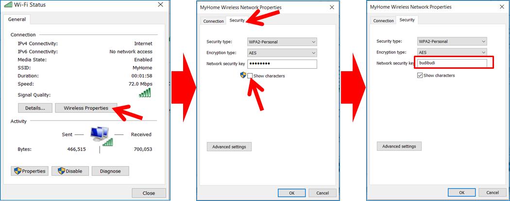 Cara Mengetahui Password Wi-Fi yang sudah terhubung di Laptop Windows 10