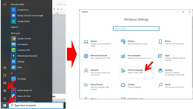 Cara Merubah Jam dan Tanggal di Windows 10 dengan menu setting