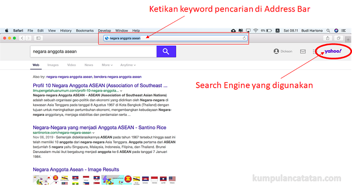 Cara Menggantikan search engine di safari macbook