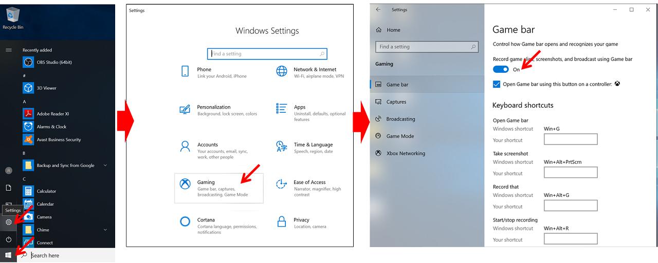 cara aktifkan game bar windows 10