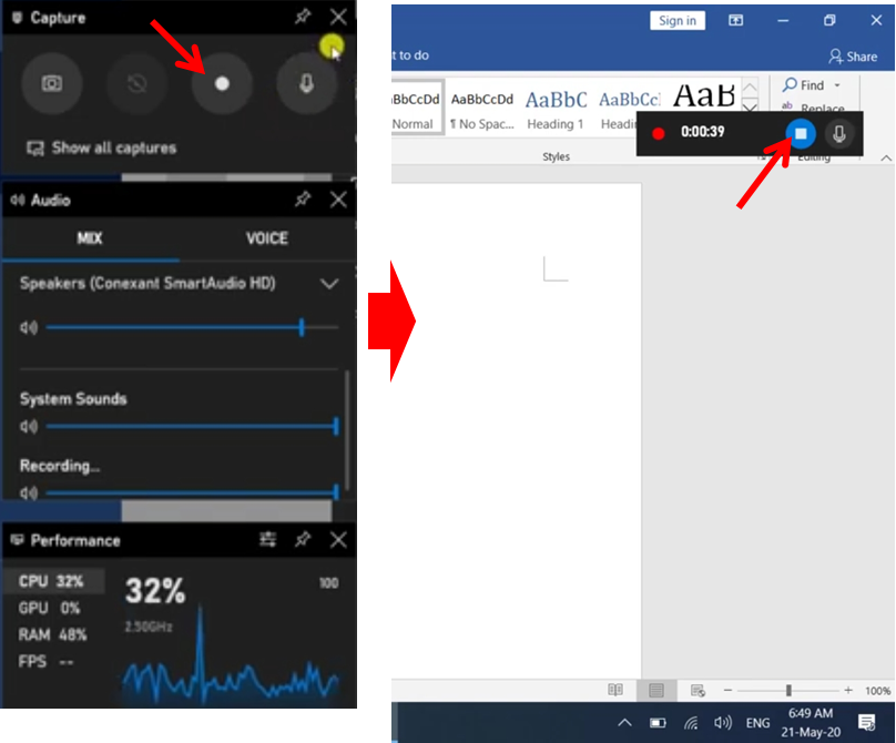cara merekam layar laptop windows 10 tanpa aplikasi dengan menggunakan game bar