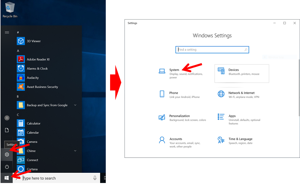 Masuk ke Menu Setting Windows 10