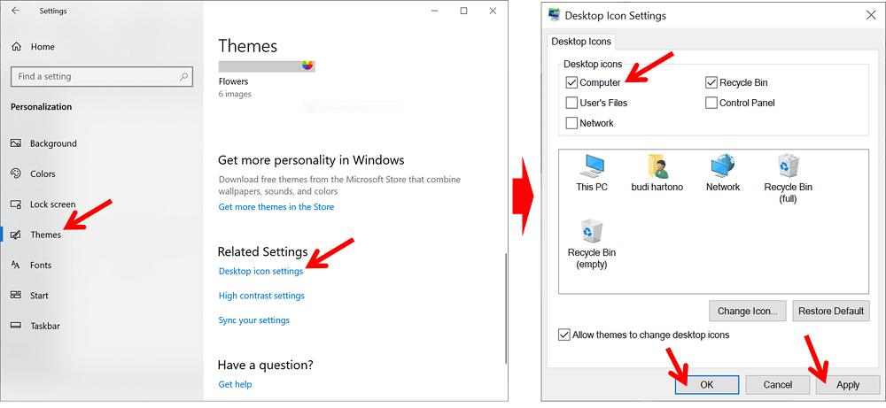 cara memunculkan my computer di windows 10 - menu themes