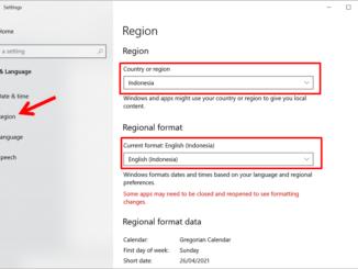 cara mengganti region dan regional di windows 10 (menu region)