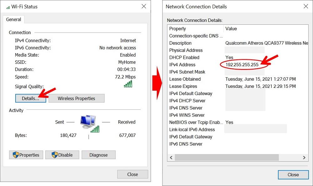 Cara Melihat IP Address di Laptop windows 10